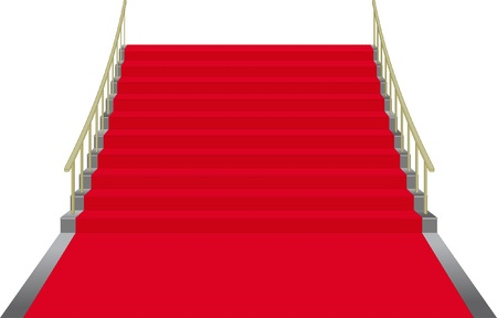 stairs covered with red carpet Stock Vector - 12326650