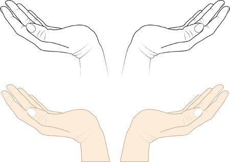 open hands Vector