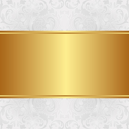 shone: golden background with floral ornaments