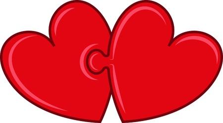cerillos: corazones rompecabezas