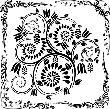 floral corners and ornaments Stock Vector - 12326659