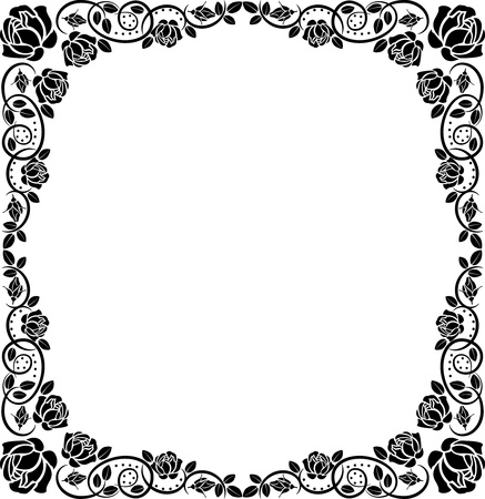 frame roses Stock Vector - 12326663