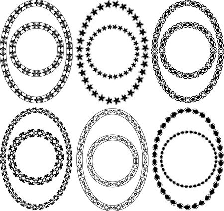 oval and circle decorative frames  Stock Vector - 12326669