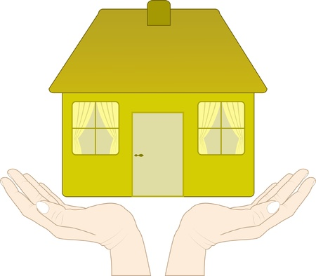 house in the hands Stock Vector - 12326667