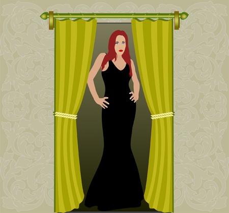 chanteur opéra: femme en porte Illustration