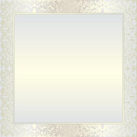 quadratic: sfondo luminoso con ornamenti floreali e copia spazio Vettoriali