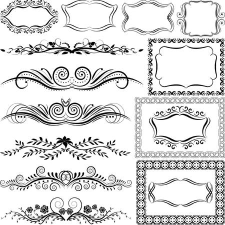 ornaments and frames Illustration