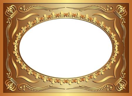 fondo de oro con adornos Ilustración de vector