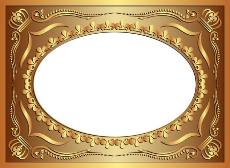 golden background with ornaments Vector