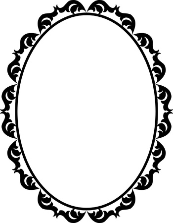 silhouette ornamental frame oval Stock Vector - 12804800