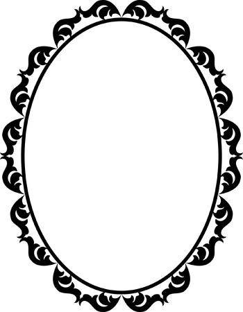 ovals: silhouette ornamental frame oval