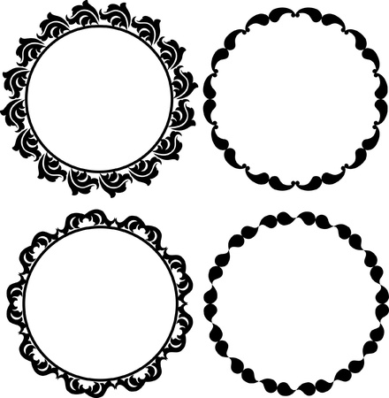 ornamental background: decorative round frames Illustration