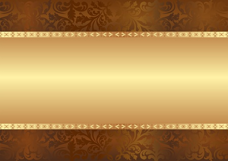 golden brown background with copy space Stock Vector - 12804808
