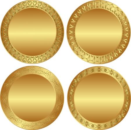 round golden background