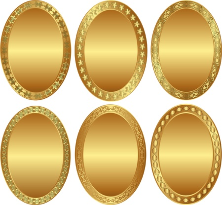 oval gold background Vector