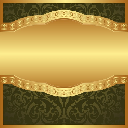 gold corner: golden background with floral ornaments