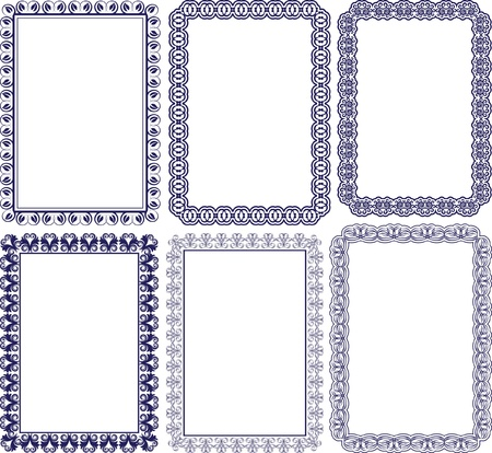 rectangular frame with embellishments Stock Vector - 13104337