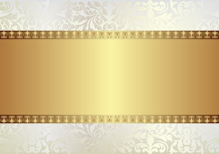 crown of light: golden background with ornaments and copy space Illustration