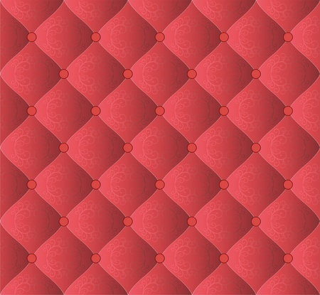 quilted red background with ornaments Vector
