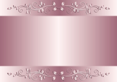 violet background with floral ornaments Vector