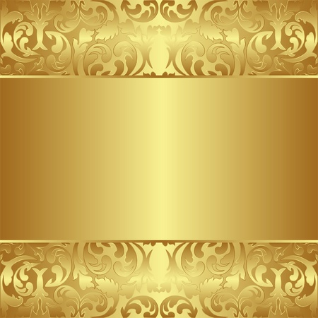 golden frames: golden background with floral ornaments