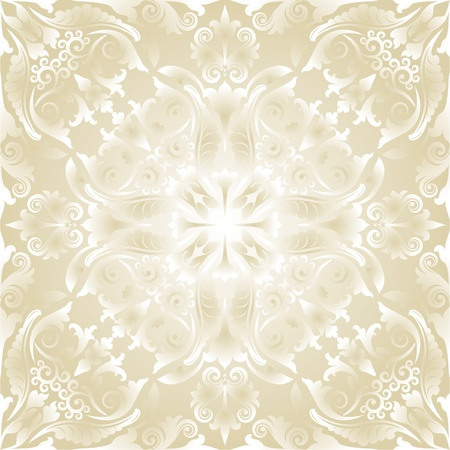 bright wallpaper with baroque ornaments Vector