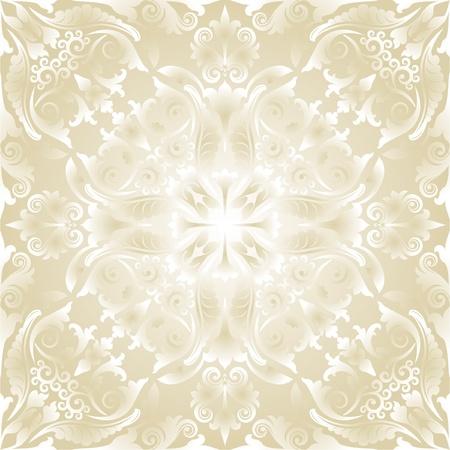 bright wallpaper with baroque ornaments