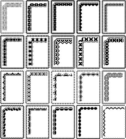 silhouette rectangular frames
