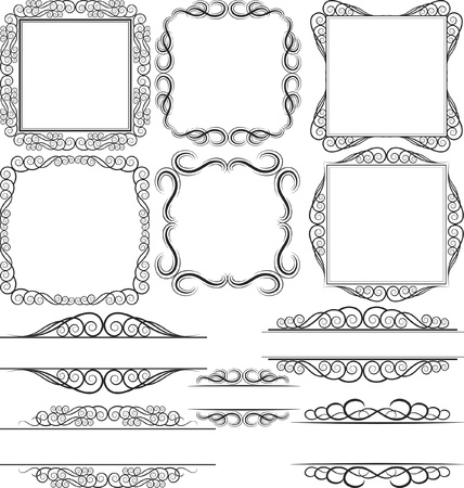 vector set - borders and frames Vector