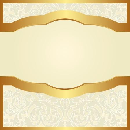 gradient: světlé pozadí s květinovými ornamenty a zlatém rámu