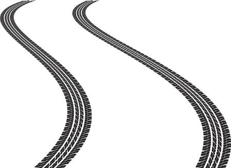 traces pneus: clipser illustration de l'art des traces de pneus