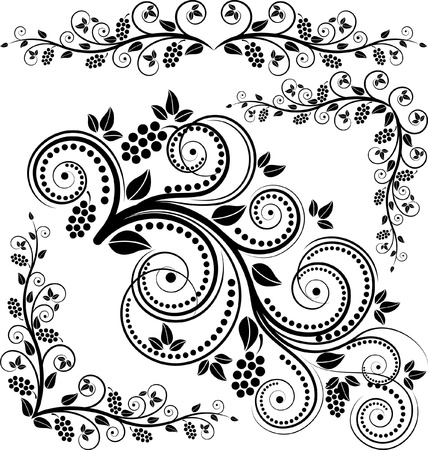 flourishes: floral corners and ornaments