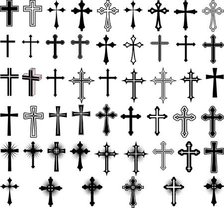 kruzifix: Clip Art Illustration der Kreuze