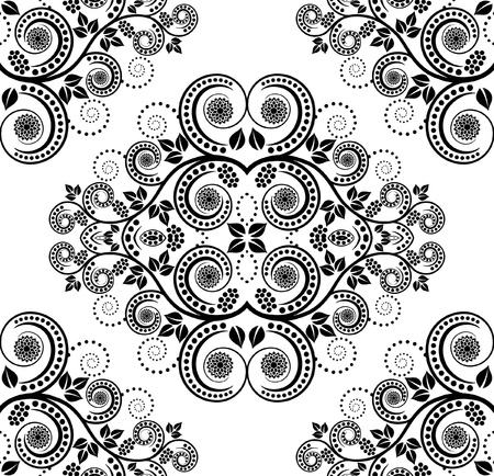 ornaments: pattern seamless with plant decoration