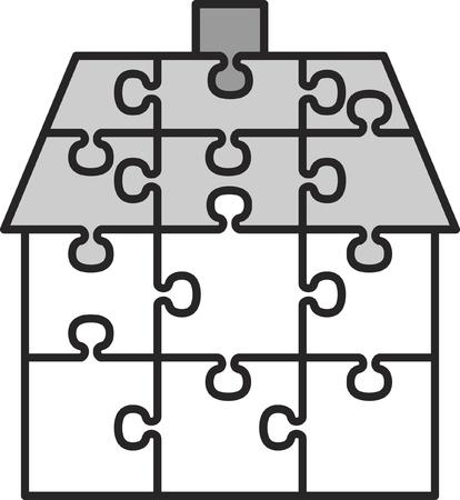 broken link: Casa de puzzles Vectores
