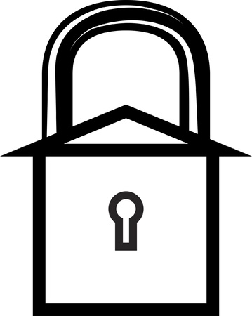 inaccessible: symbol of a safe home Illustration