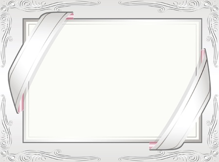 white invitation background  Stock Vector - 13894466