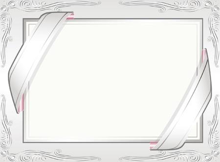 white invitation background Stock Vector - 13894466