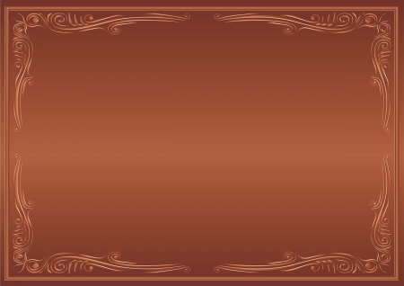 brown background with decorative corners Stock Vector - 13894468