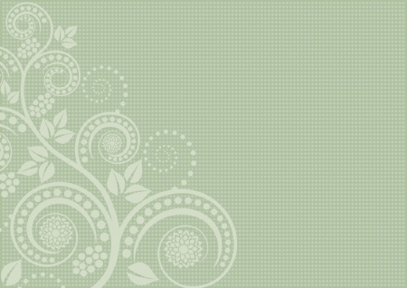 pistachio background with floral ornaments Vector