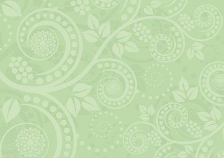 light green background with floral ornaments Vector