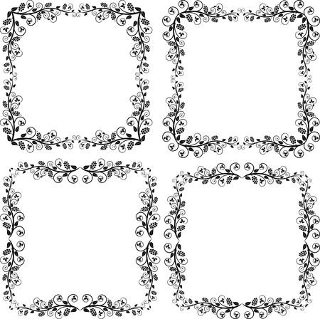 quadratic: marcos de las esquinas y los adornos