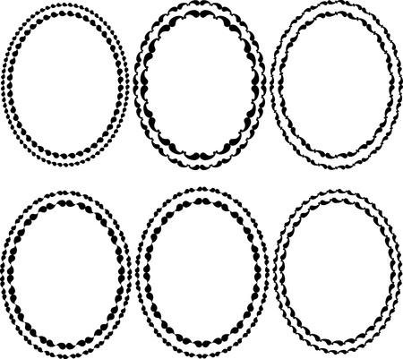 frames oval Stock Vector - 14120063