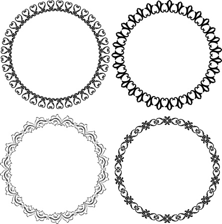 round: set of decorative round frames Illustration