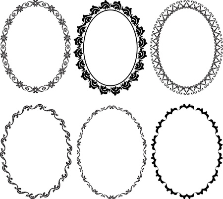 an oval: marcos silueta ovalada