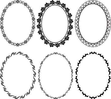 oval frame: silhouette oval frames