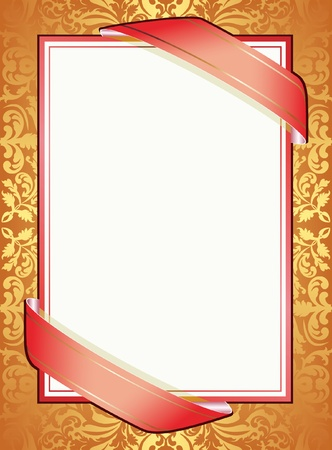 background with ribbons and ornaments Vector