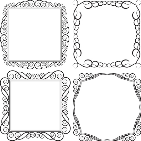 square frames - vector illustration