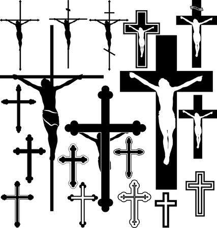 cruz de jesus: ilustración de la cruz