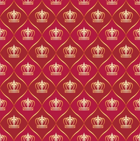 carmine: fondo rojo transparente con coronas